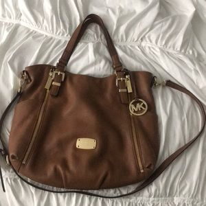 Brown and gold Michael Kors Tote